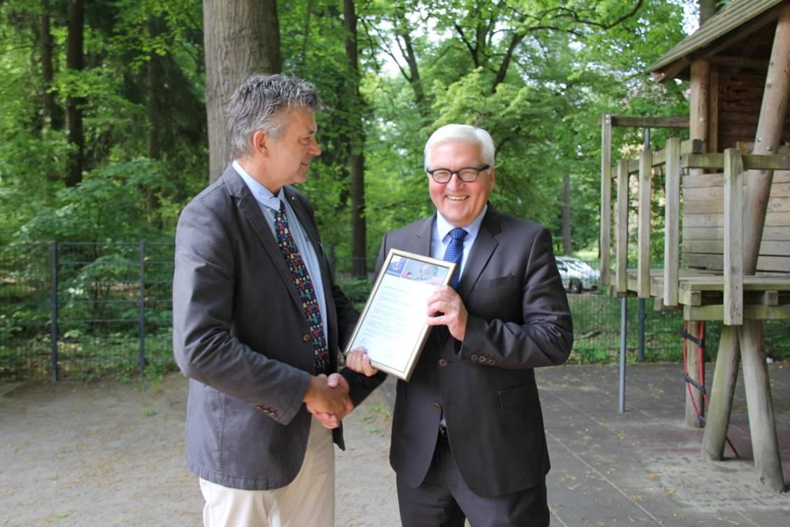 Treffen mit Frank Walter Steinmeier