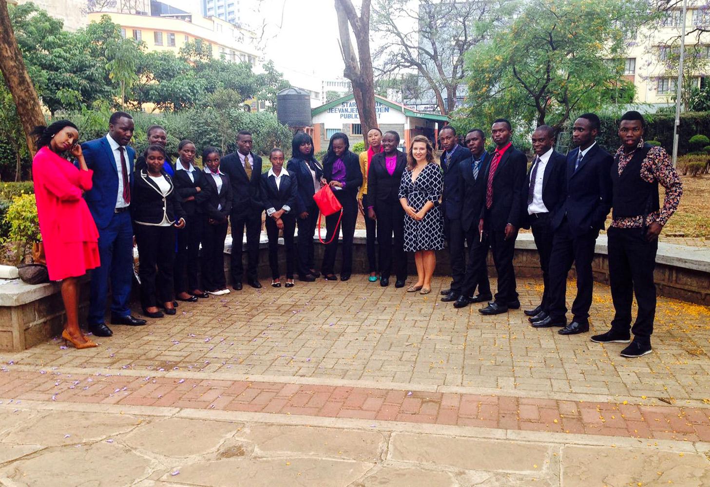 """unsere Alumnis beim """"Presidential Award"""" in Nairobi"""