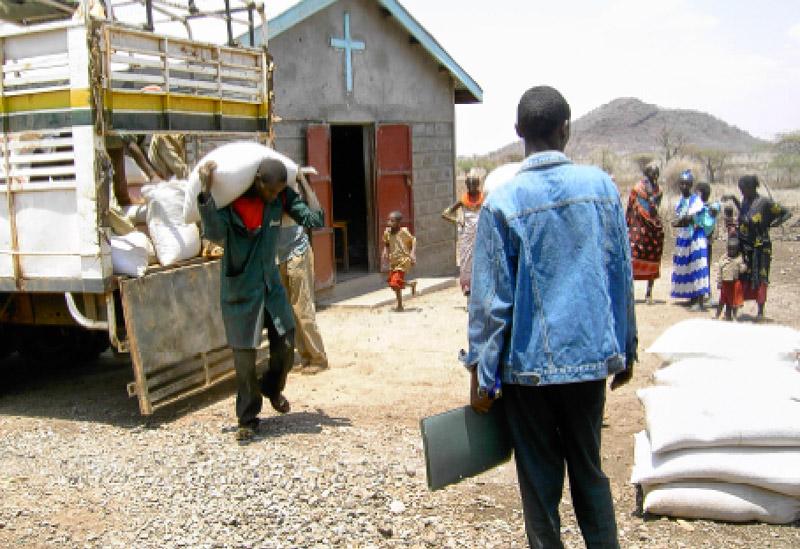 Sammeln für Dürreopfer