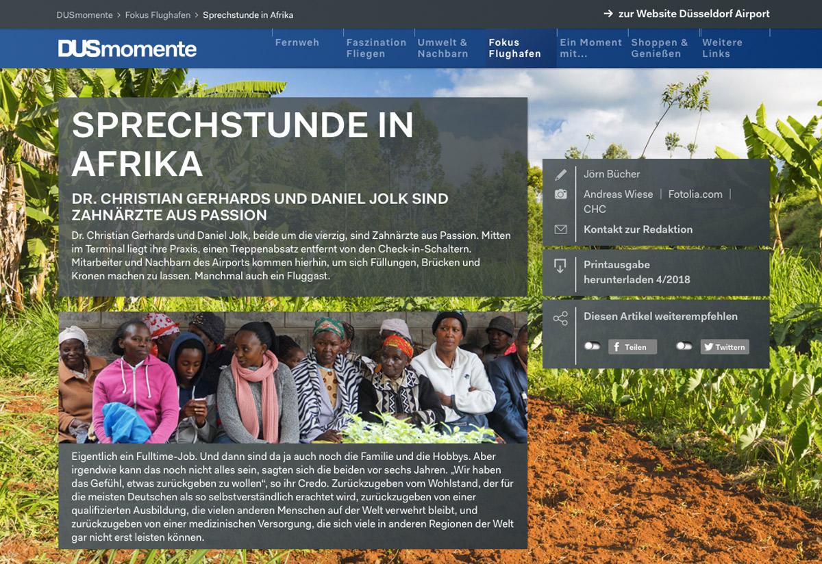 Sprechstunde in Afrika